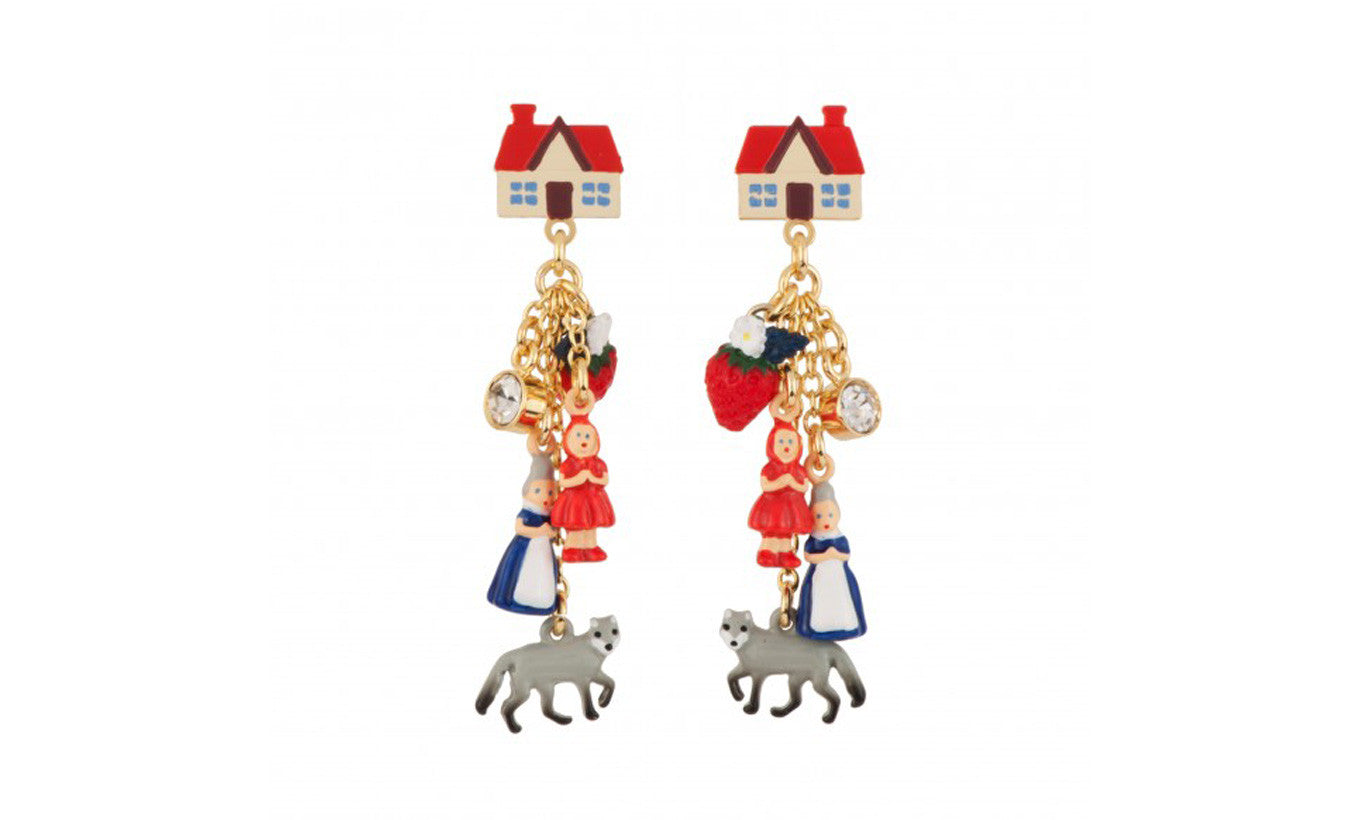N2 Red Riding Hood Earrings