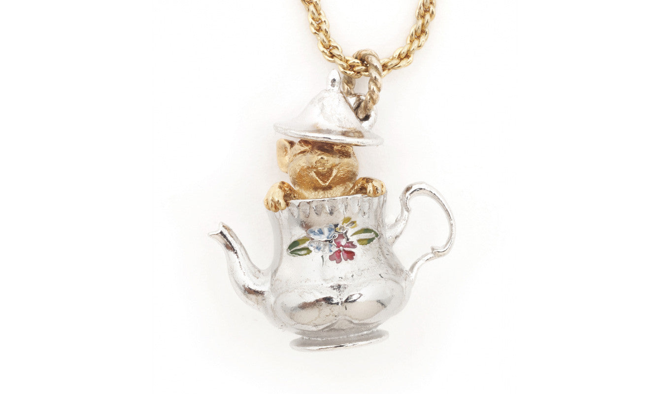Bill Skinner Tea Party Mouse Necklace