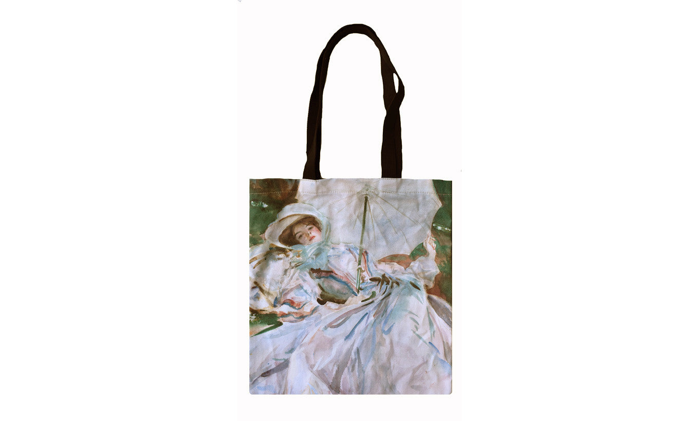 The Lady with the Umbrella Tote Bag