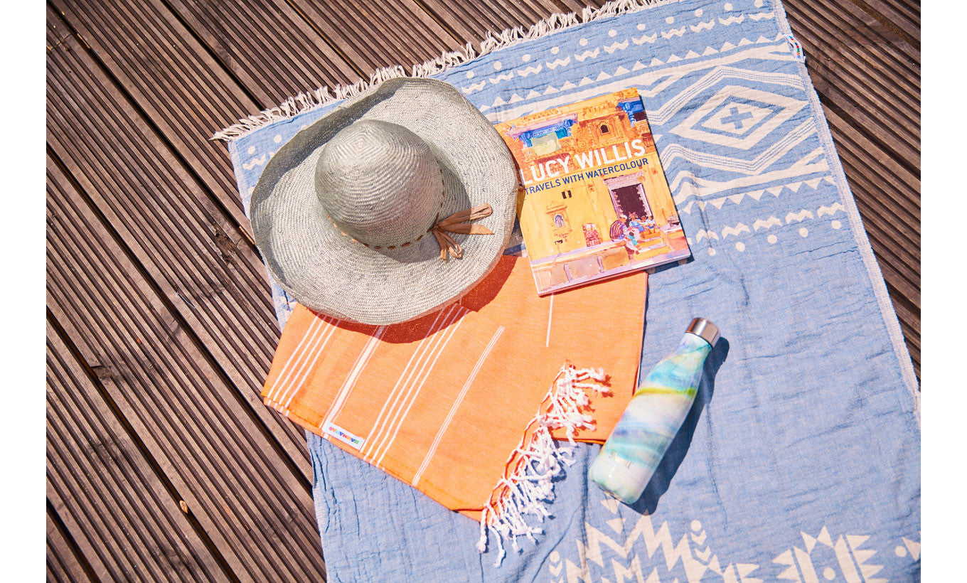 Blue Turkish Hammam Towel