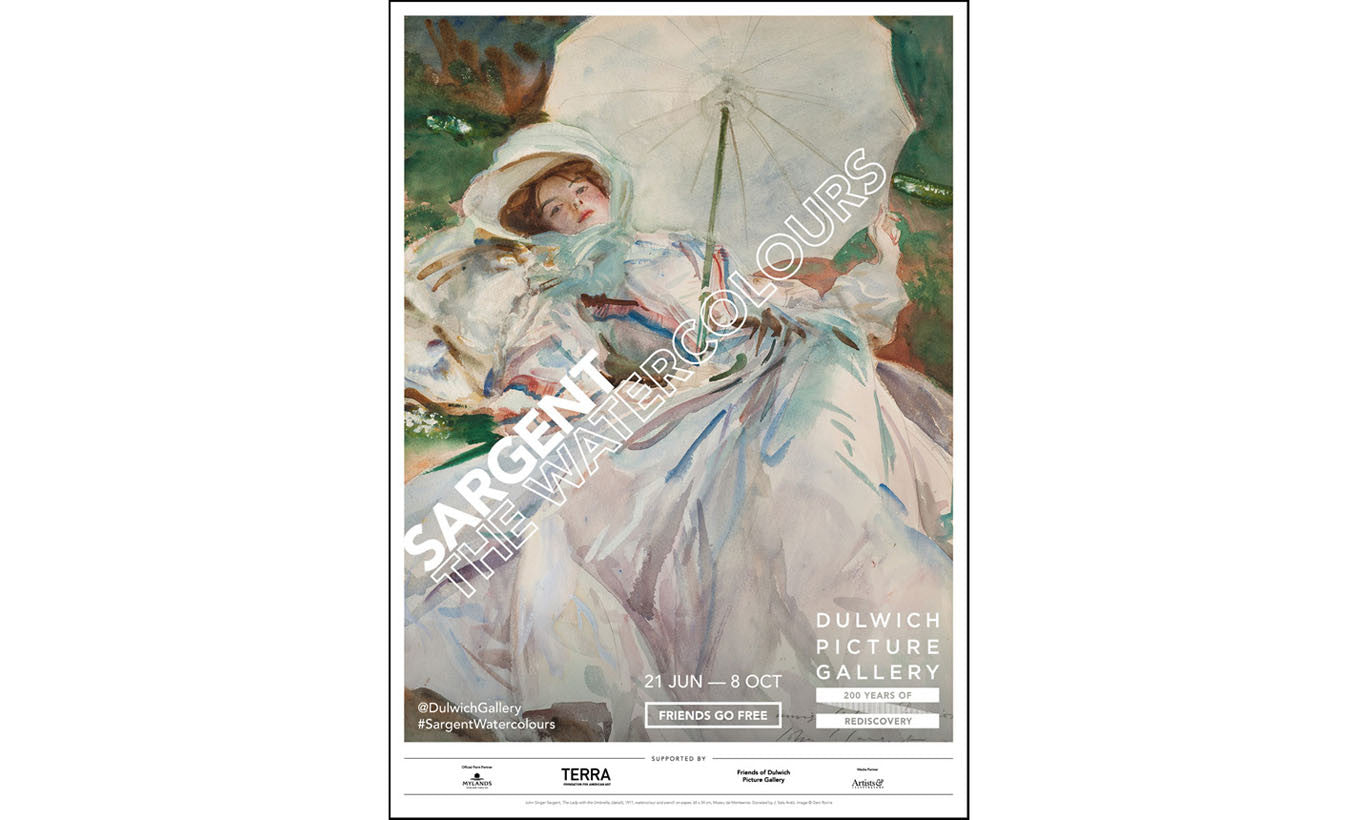 Sargent: The Watercolours Exhibition Poster