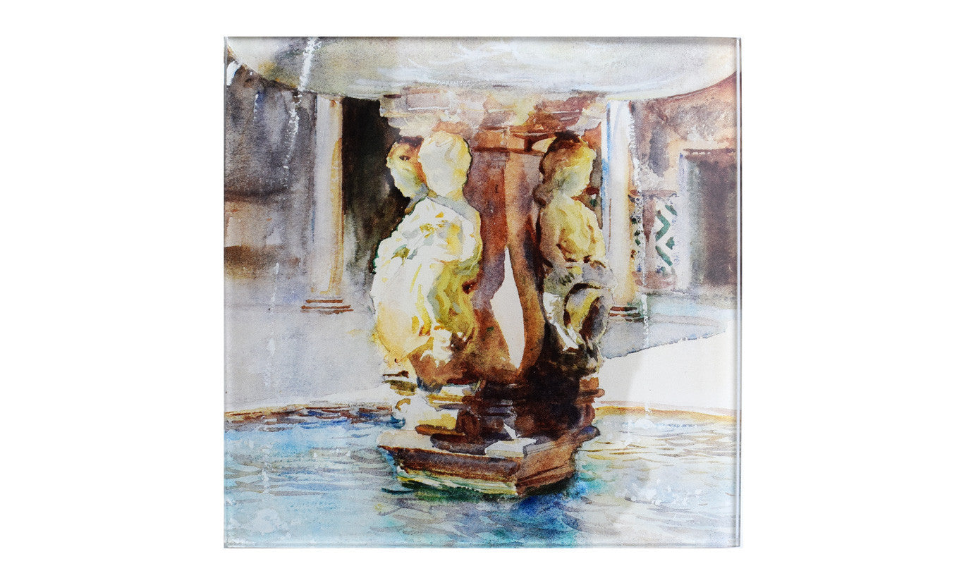 Spanish Fountain Glass Coaster
