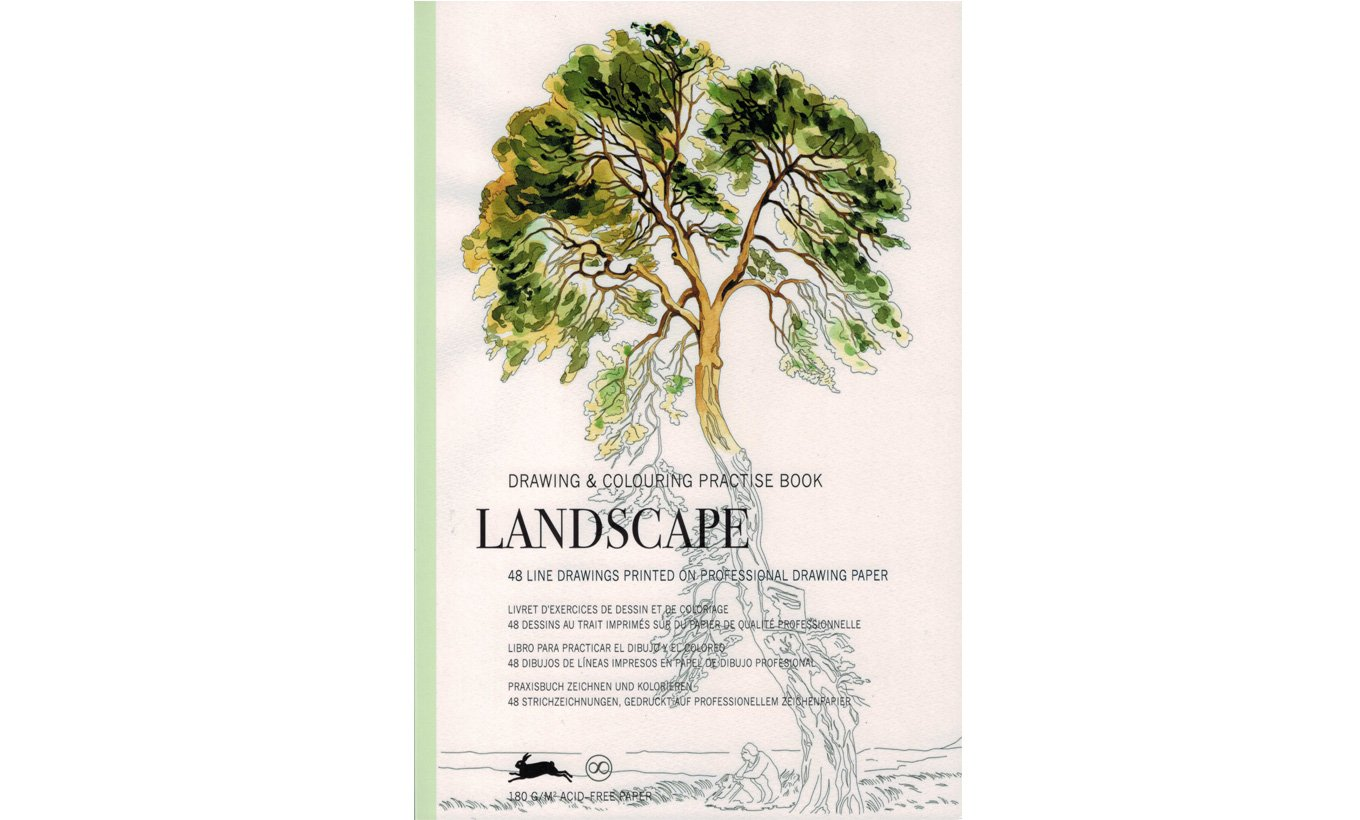Landscape Drawing & Colouring Book
