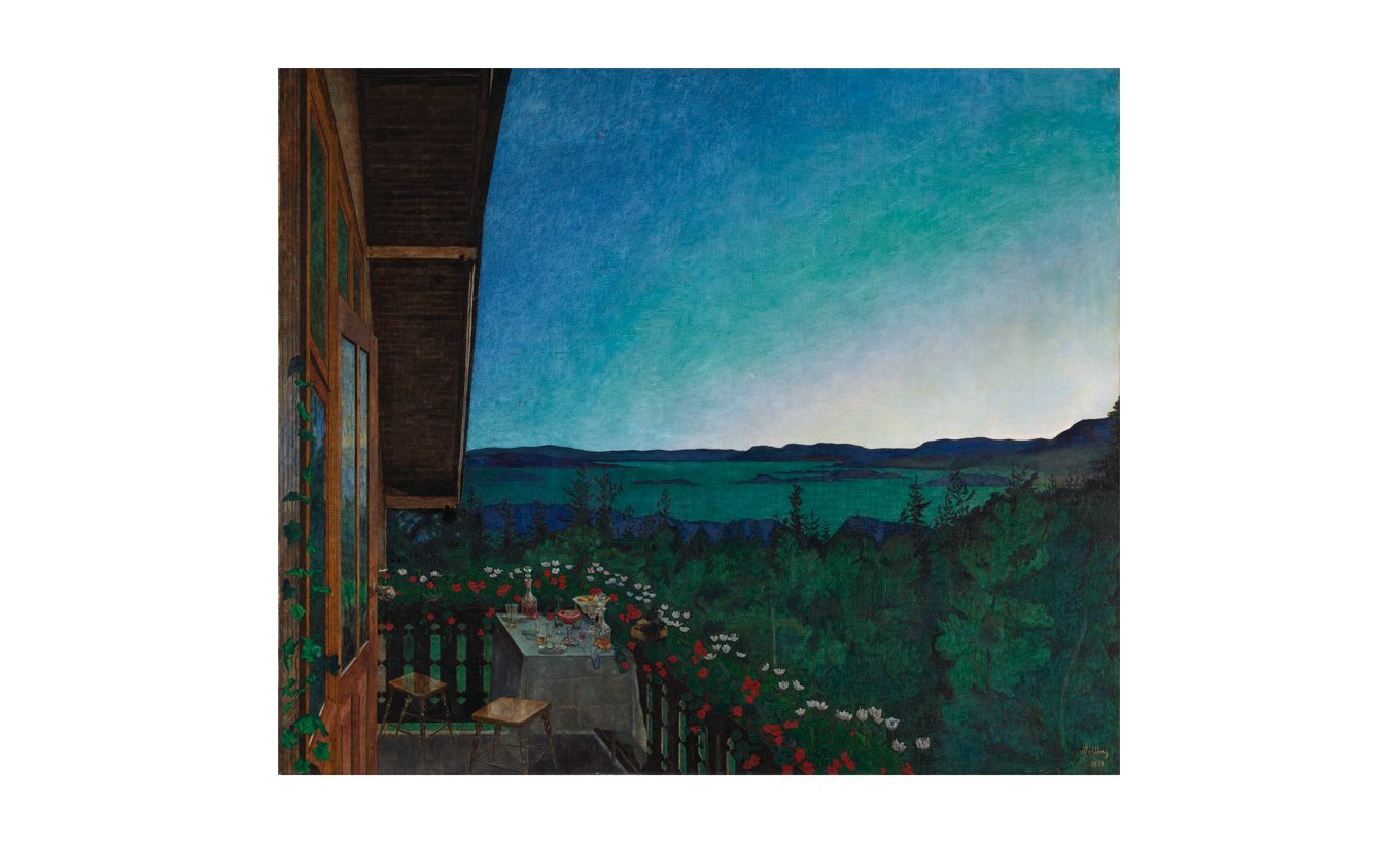 Summer Night Mounted Print