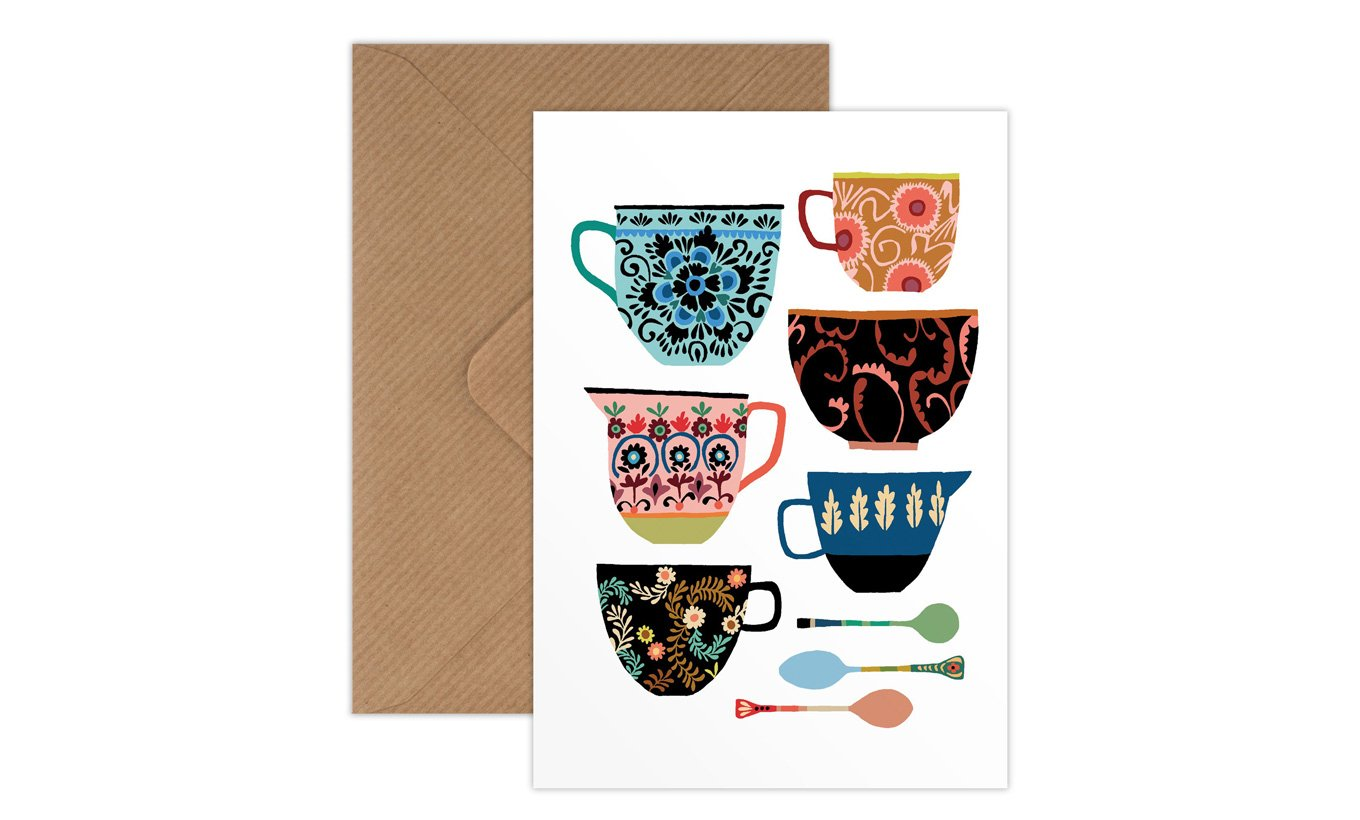 Brie Harrison Folk Collection Greetings Card