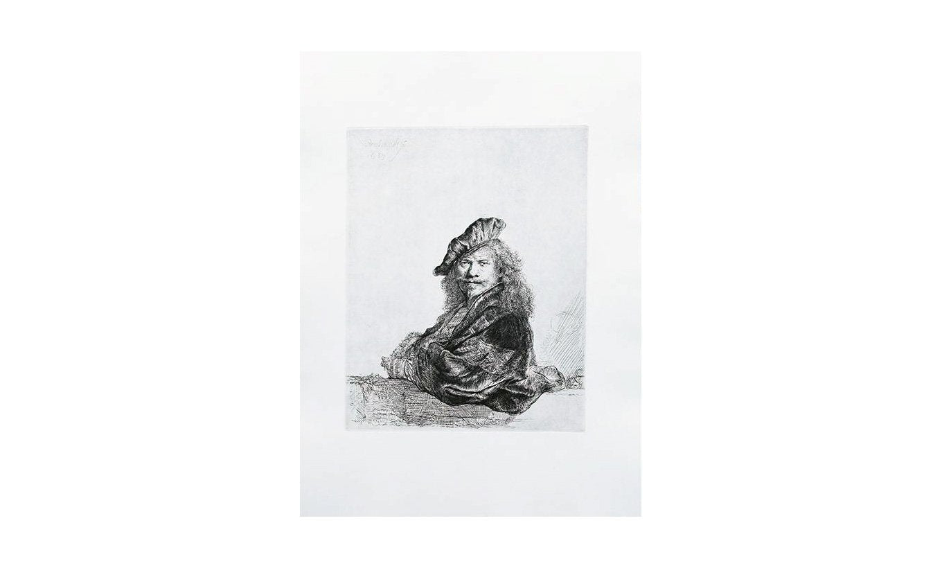 Special Ed. Reproduction Etching: Self-Portrait