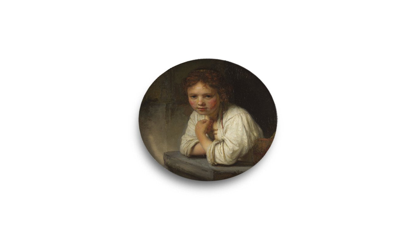 Girl at a Window Pocket Mirror