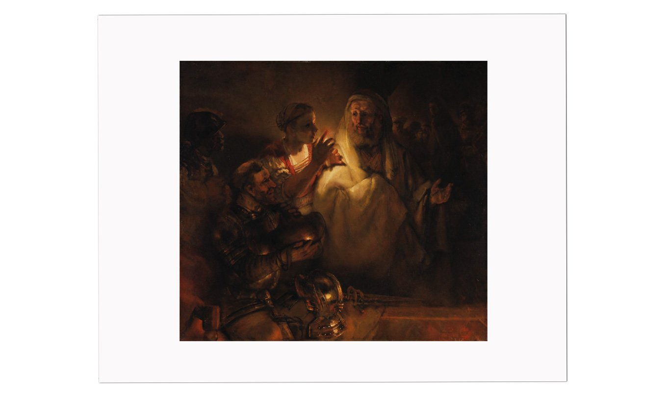 The Denial of St Peter Mounted Print