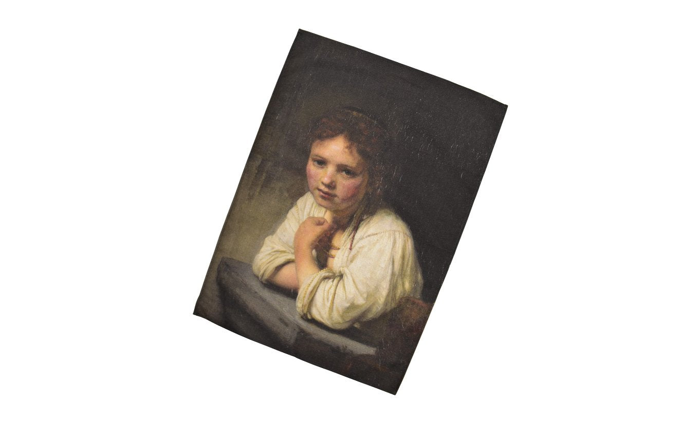 Girl at a Window Tea Towel