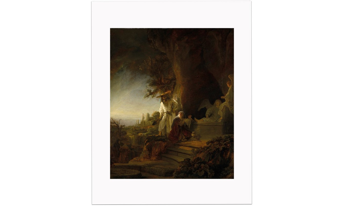 Christ and St Mary Magdalen at the Tomb Mounted Print