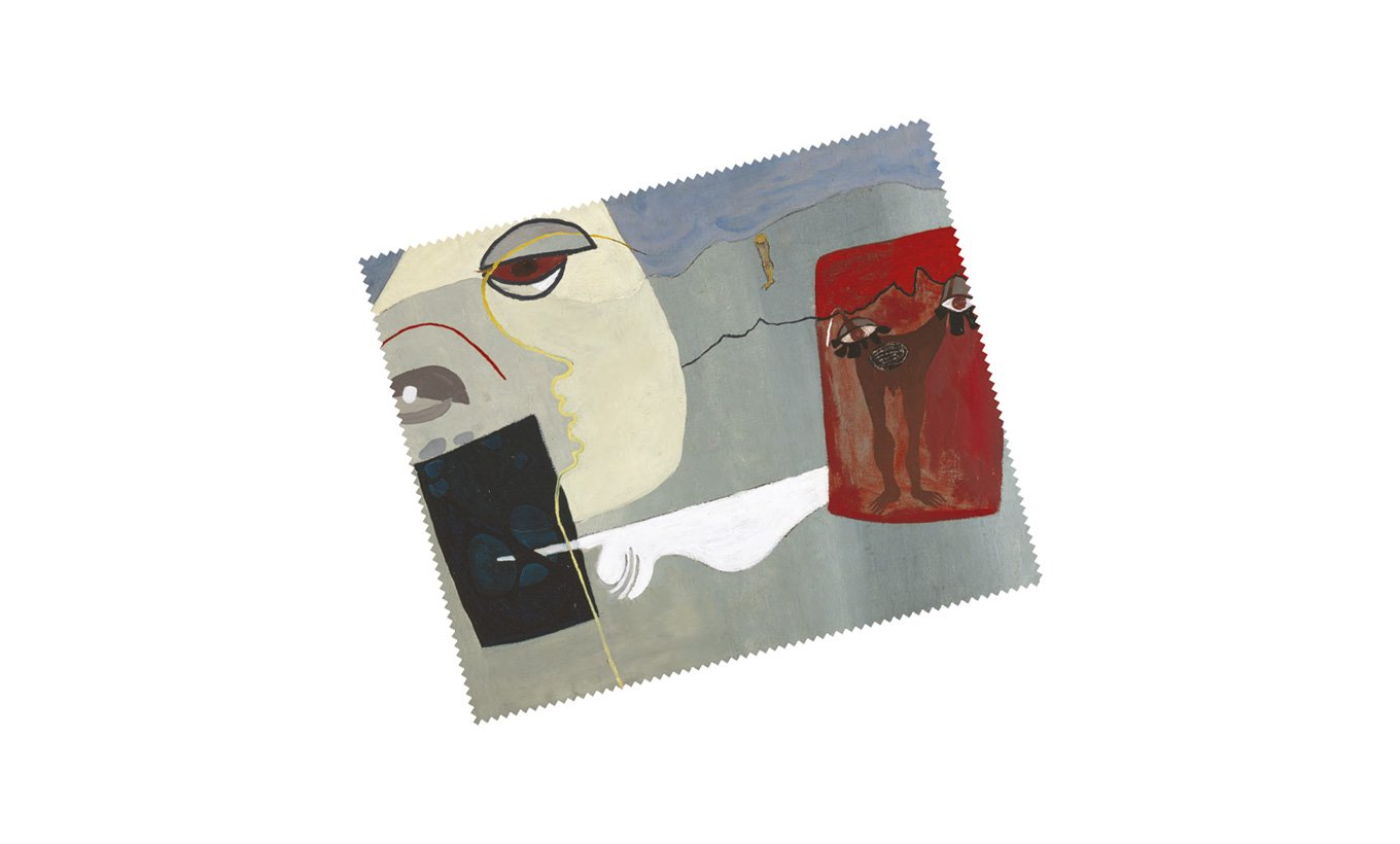 Woman and Suspended Man Lens Cloth
