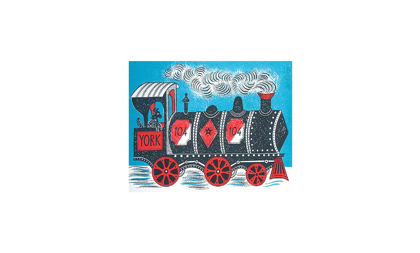 Emily Sutton Train Christmas Card Pack of 5