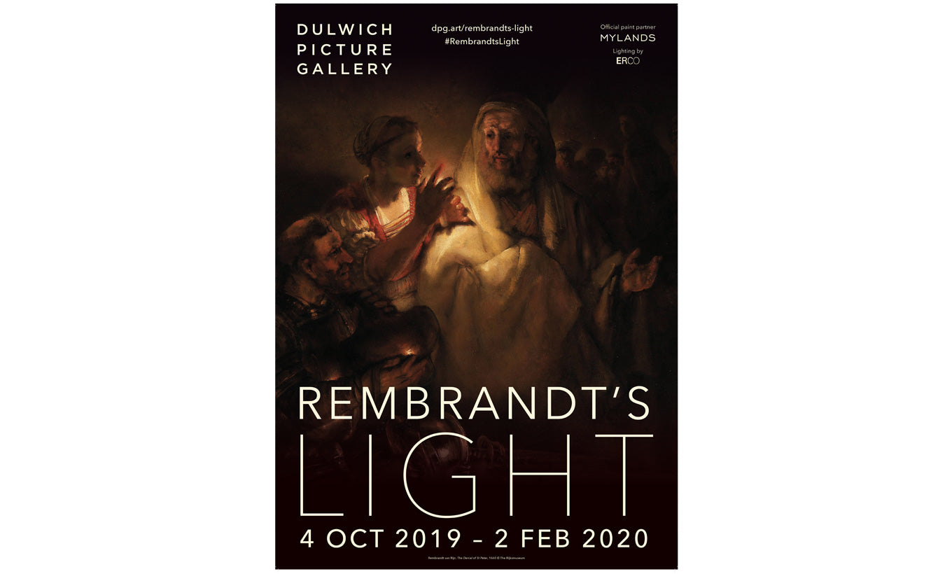Rembrandt's Light Exhibition Poster