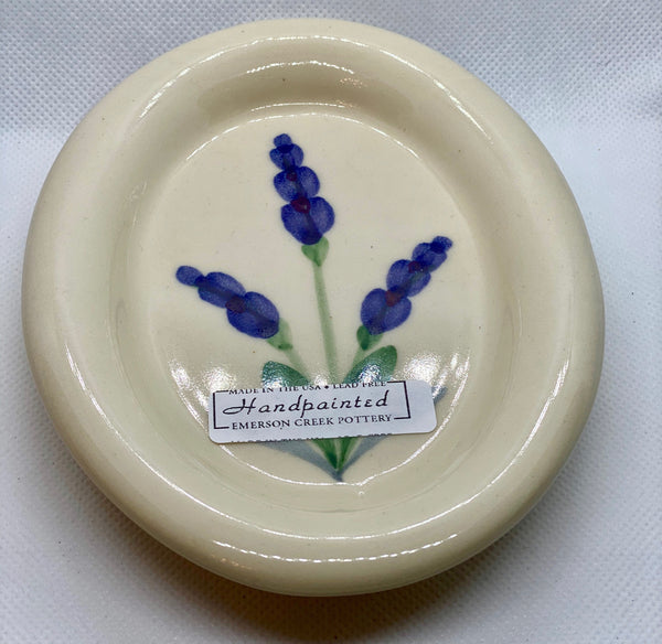 Lavender Artisan-Crafted Handpainted Pottery