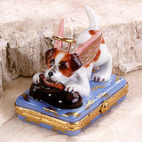 "Jack Russell Limoges Box, ""The little Angel"""