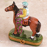 "Race Horse ""Winner Circle"" Limoges Box"