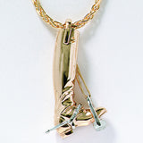 Ashley's Golden Boot Neckace, 14k Gold