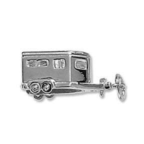 Horse Trailer Charm, Sterling Silver