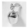 Apple Charm, Sterling Silver