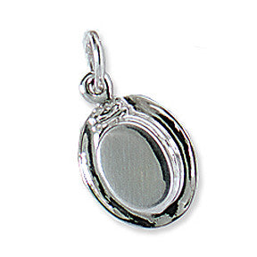 Dressage Hat Charm, Sterling Silver
