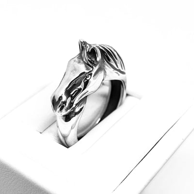 Ashley's Horse Head Ring, Sterling Silver