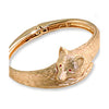 Fox Bangle Bracelet, 14k Gold