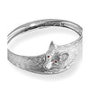 Fox Bangle Bracelet, Sterling Silver