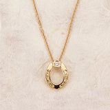 Diamond Horseshoe Necklace, 18k gold