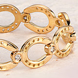 Diamond Horseshoe Bracelet, 18k Gold