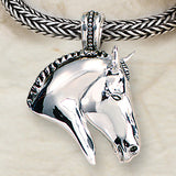 Ashley's Braided Horse Head Necklace, Sterling Silver