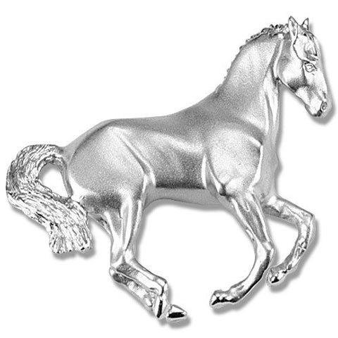 Cantering Pirouette Horse Pin, Sterling Silver