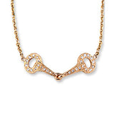 Ashley's Pave' Diamond Bit Necklace, 14k yellow gold
