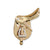 English Saddle Pin, 14k gold