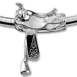 Western Saddle Slide Necklace, Sterling Silver