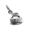 Bell Boot Charm, Sterling Silver
