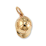 Riding Helmet Charm, 14k Gold