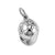 Riding Helmet Charm, Sterling Silver