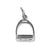Stirrup Charm, Sterling Silver