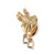 English Saddle Charm, 14k Gold