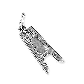 Boot Jack Charm, Sterling Silver