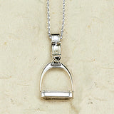 Stirrup Necklace, Sterling Silver (Large)