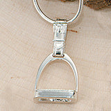 Stirrup Necklace, Sterling Silver (Medium)