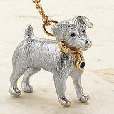 Jack Russell Pendant, Sterling Silver