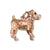 Jack Russell Charm, 14k Gold