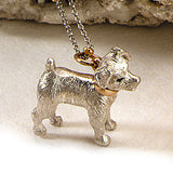 Jack Russell Charm, Sterling Silver
