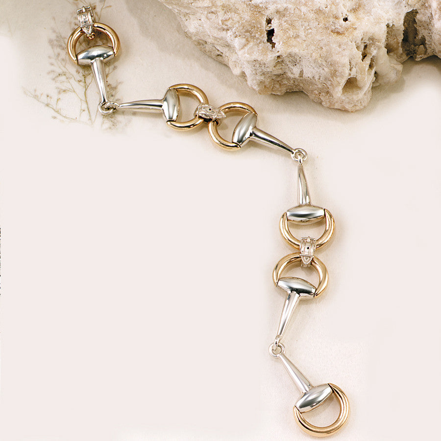 Ashley's 18k & Sterling Silver 3 Bit Bracelet