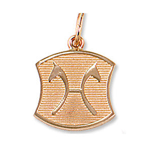 Hanoverian Warmblood Breed Charm, 14k gold