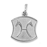 Hanoverian Warmblood Breed Charm, Sterling Silver