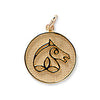 Irish Sport Horse Breed Charm, 14k gold