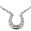 Diamond Horseshoe Necklace, 14k white gold